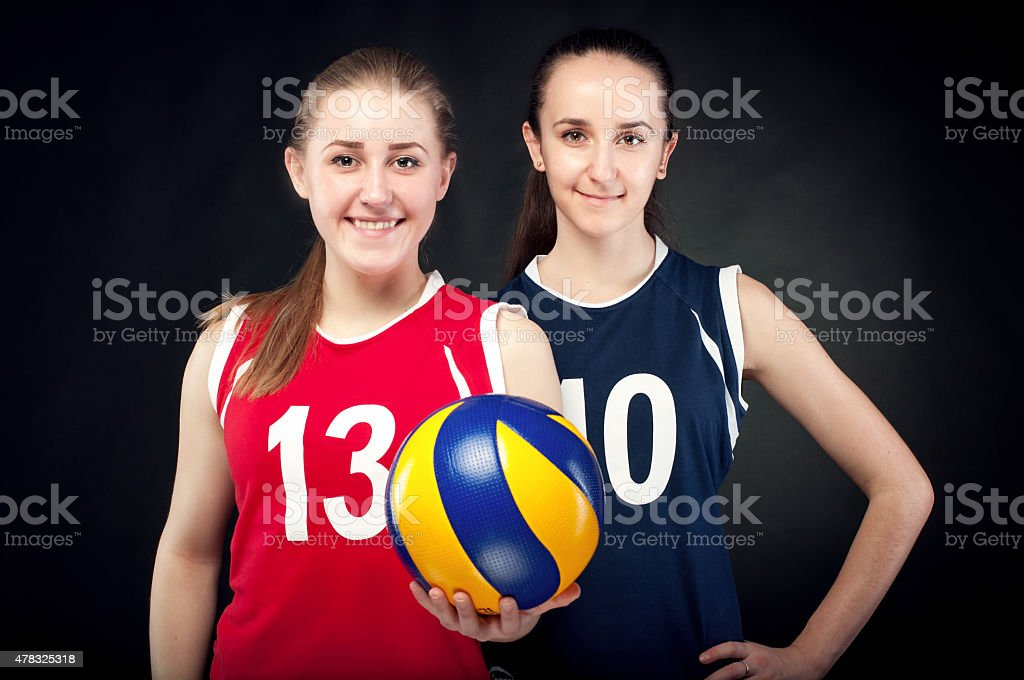 Volleyball action stock photo