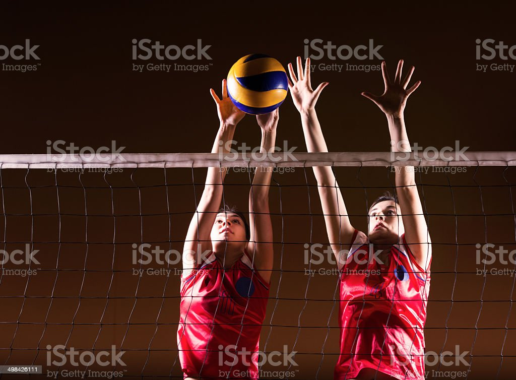 Volleyball action. stock photo