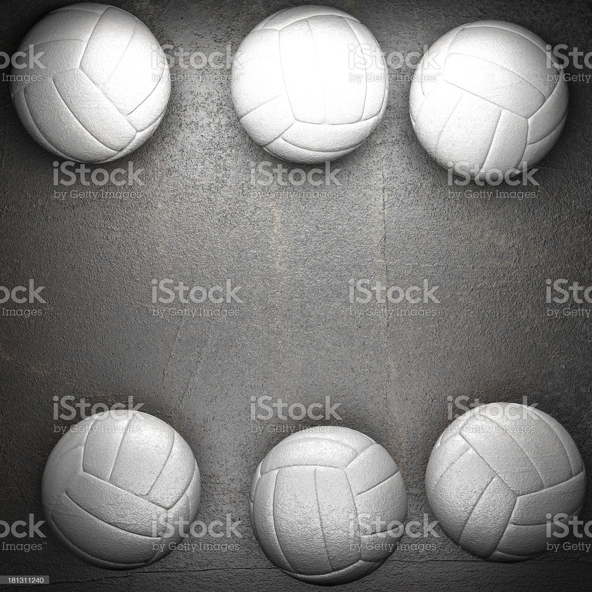 Volleyball ball and metal wall background royalty-free stock photo