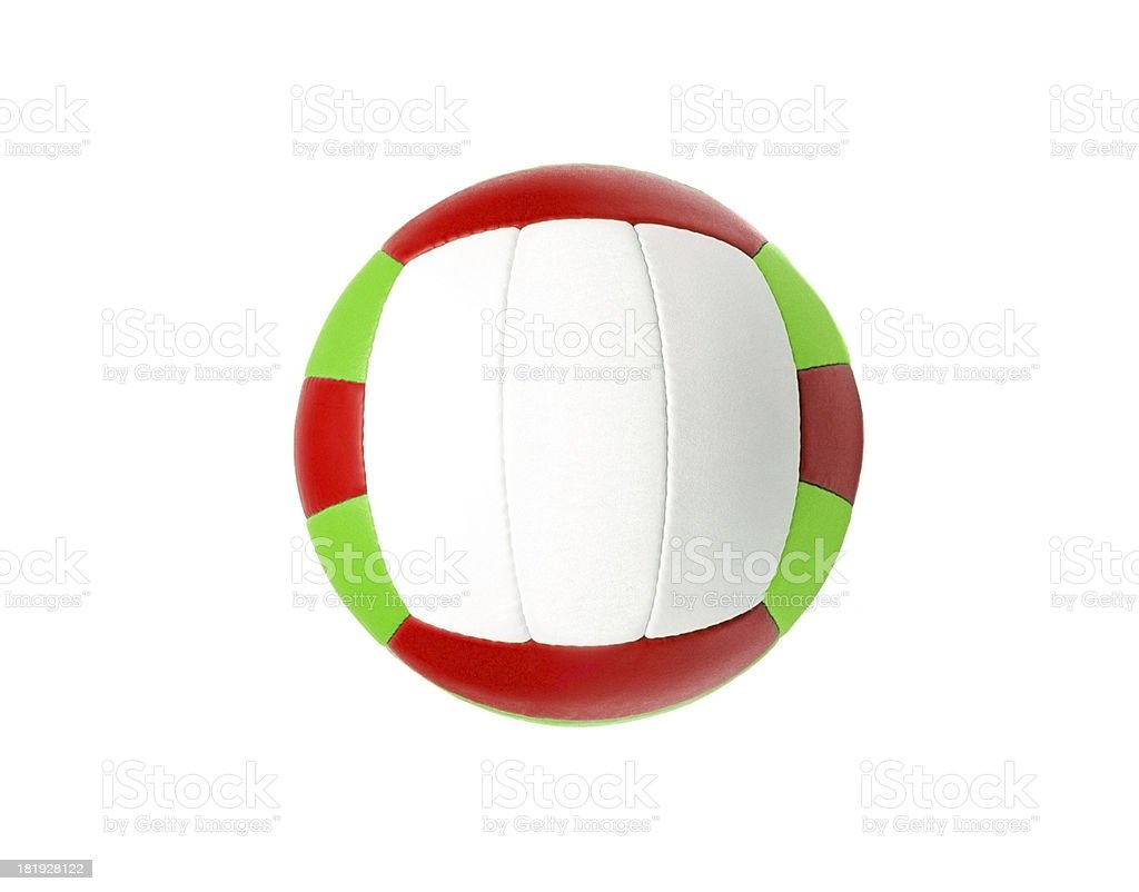 Volleyball ball isolated on white royalty-free stock photo