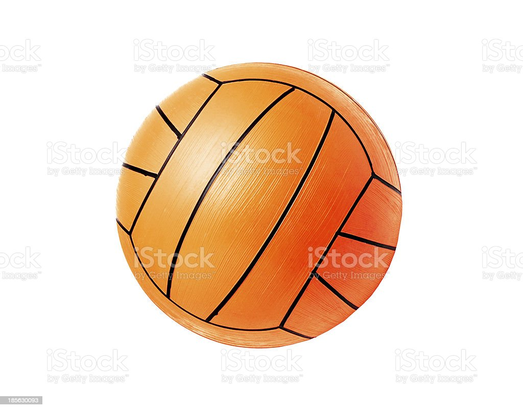 volleyball ball isolated over white royalty-free stock photo