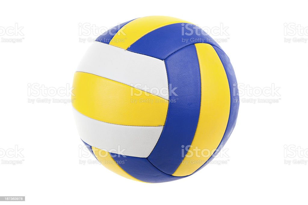 Volley-ball ball, isolated stock photo