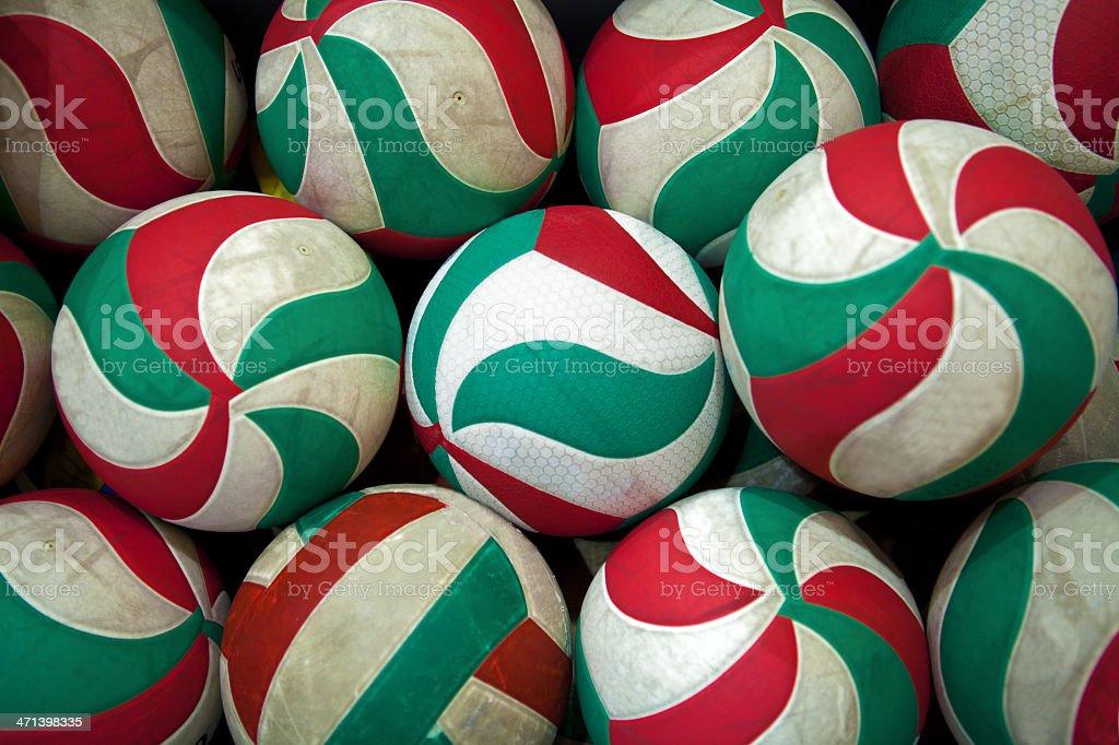 volleyball balls stock photo
