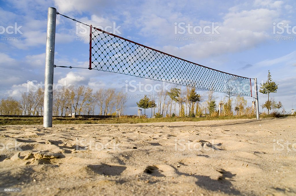 volleyball field 4th royalty-free stock photo