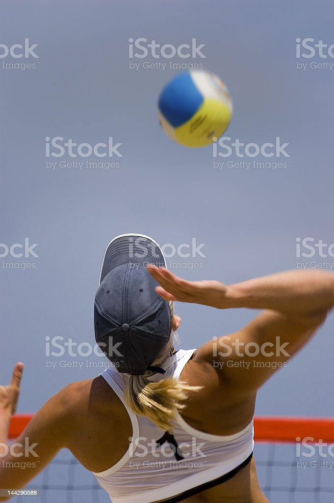 Volleyball in Beach royalty-free stock photo