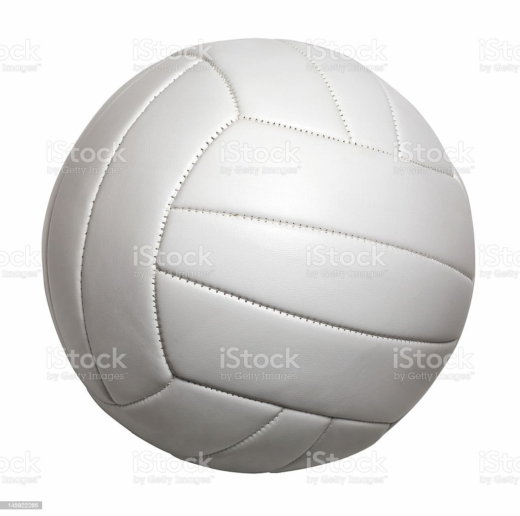 volleyball isolated stock photo