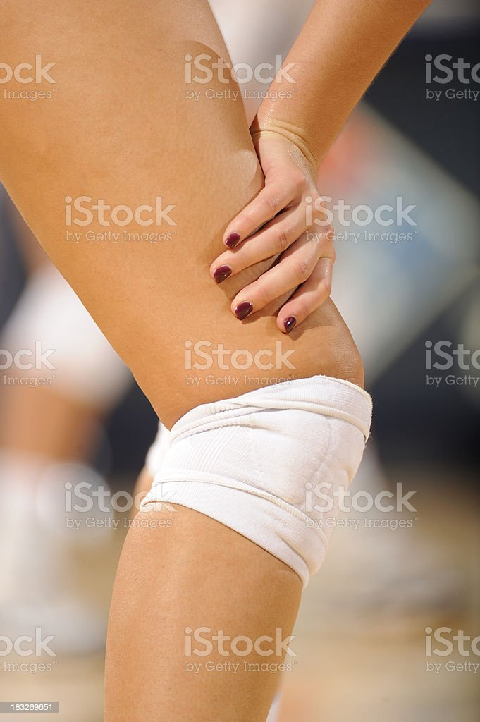 Volleyball knee pads stock photo