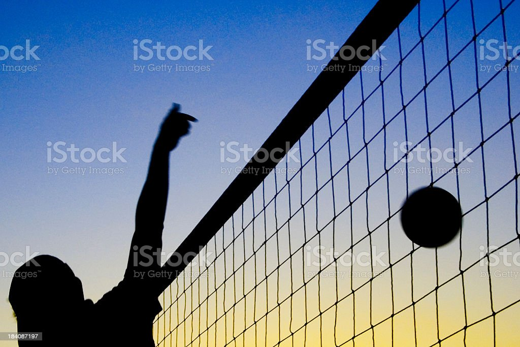 Volleyball Knock Down royalty-free stock photo