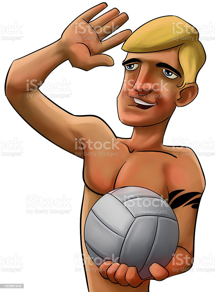 volleyball man royalty-free stock photo