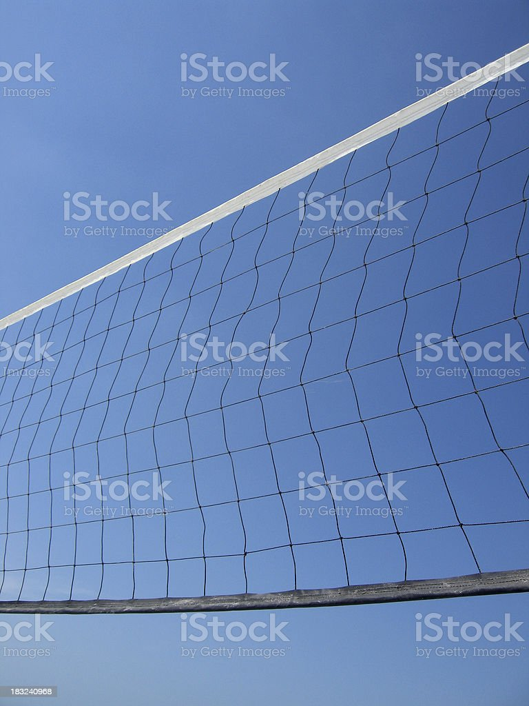 Volleyball Net Against A Blue Sky royalty-free stock photo