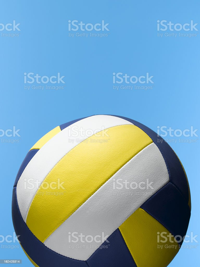 volleyball on blue stock photo