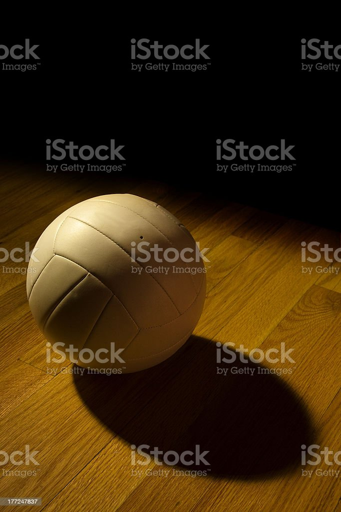 Volleyball on the Court stock photo
