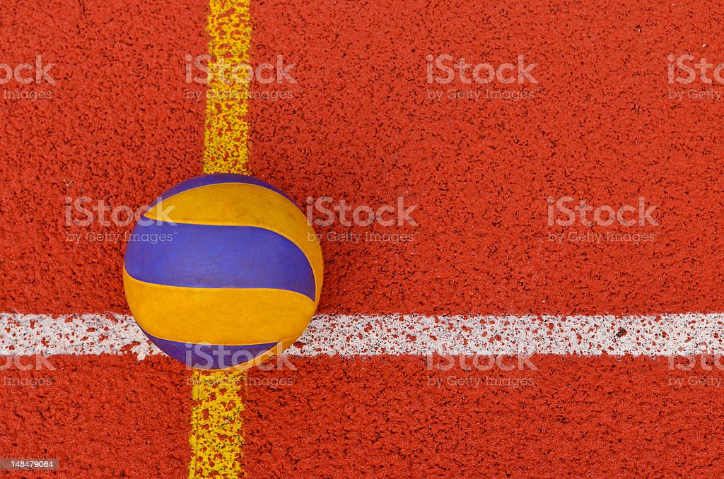 Volleyball on the pitch stock photo