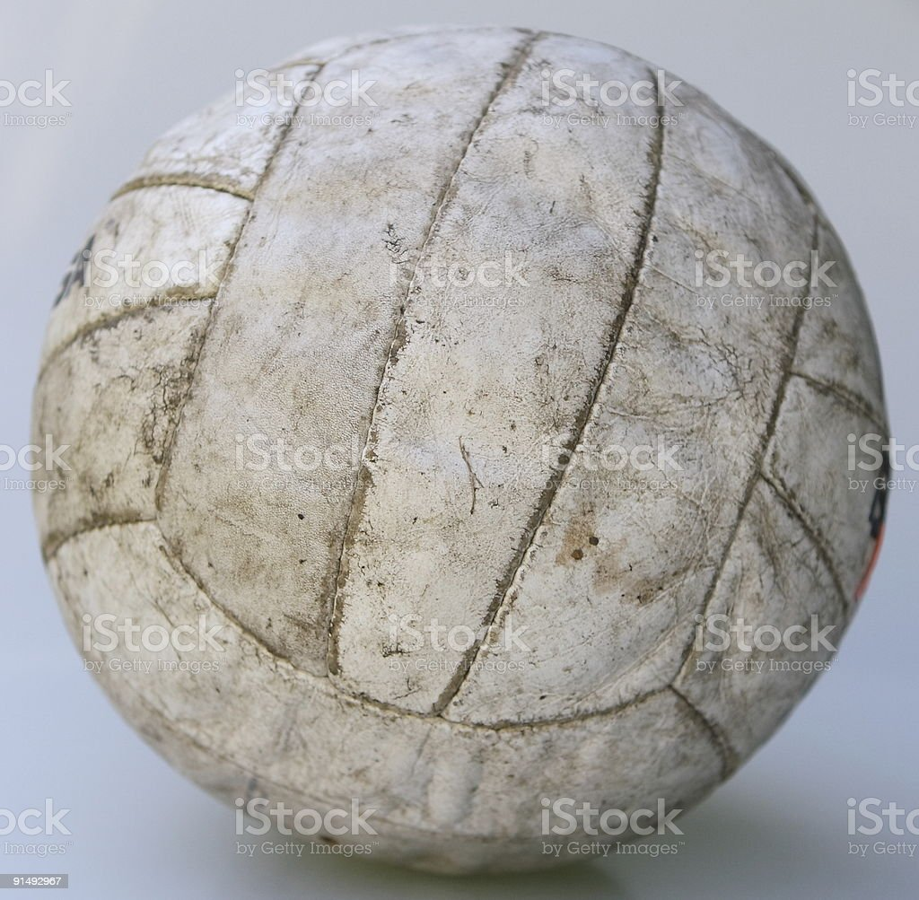 Volleyball on white background royalty-free stock photo