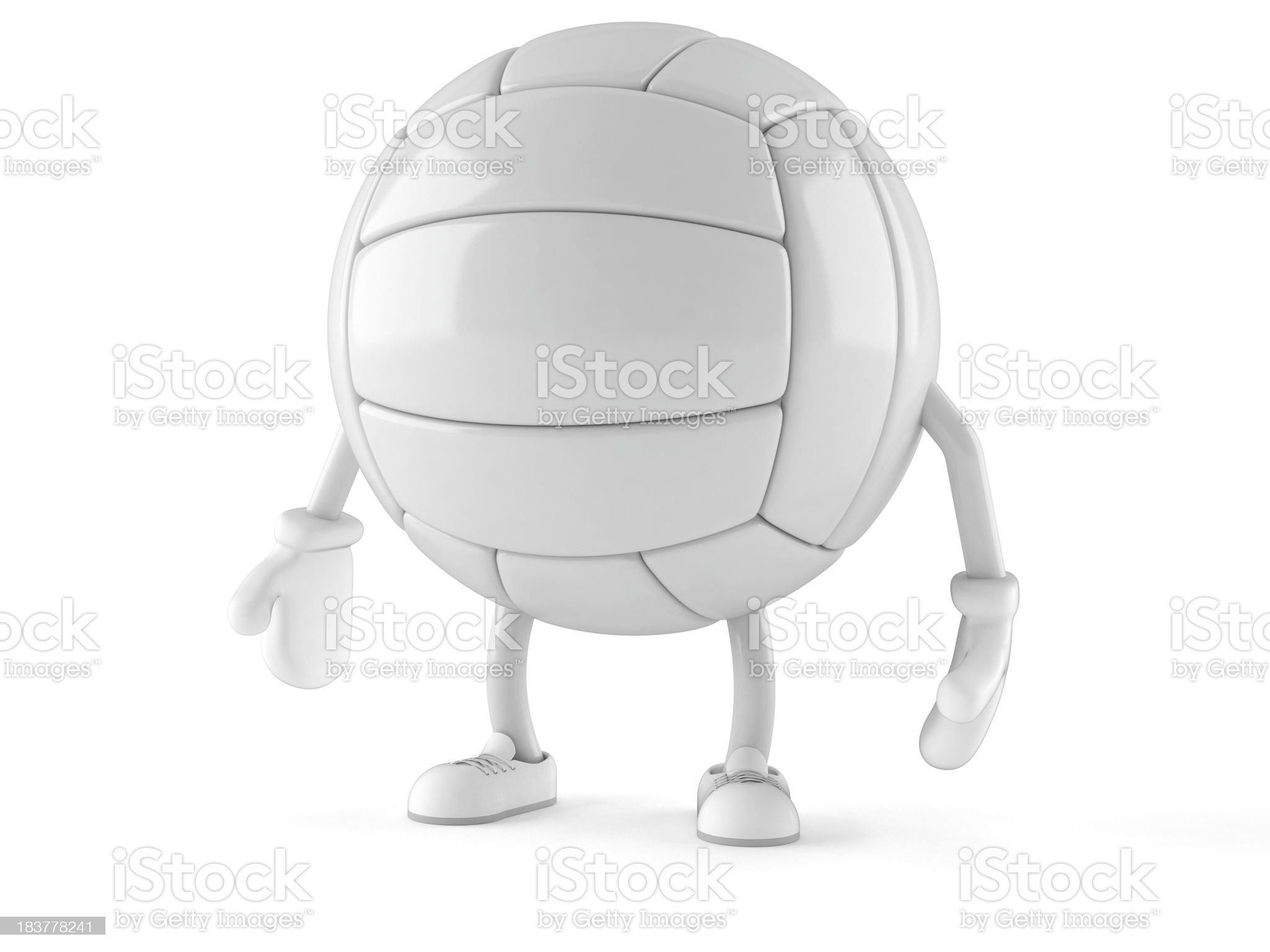 Volleyball royalty-free stock photo