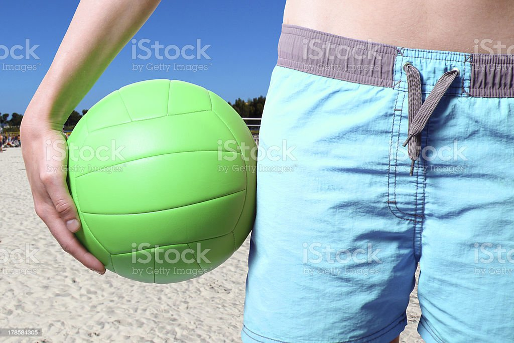 volleyball player at the beach royalty-free stock photo