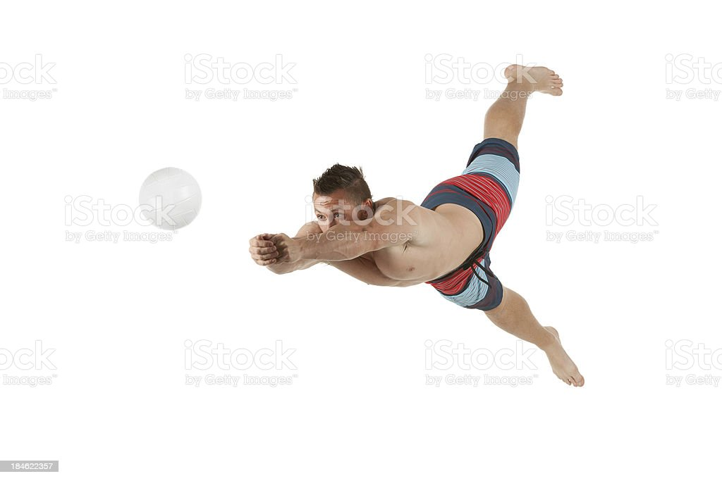 Volleyball player in action royalty-free stock photo