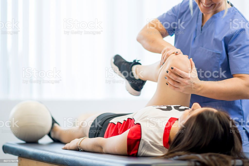 Volleyball Player in Physical Therapy royalty-free stock photo