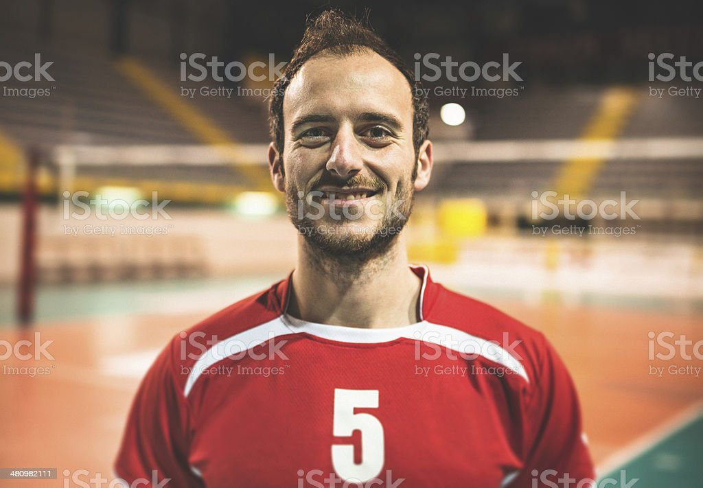 Volleyball player inside the stadium royalty-free stock photo