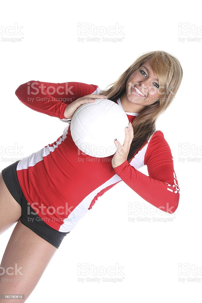 Volleyball player royalty-free stock photo