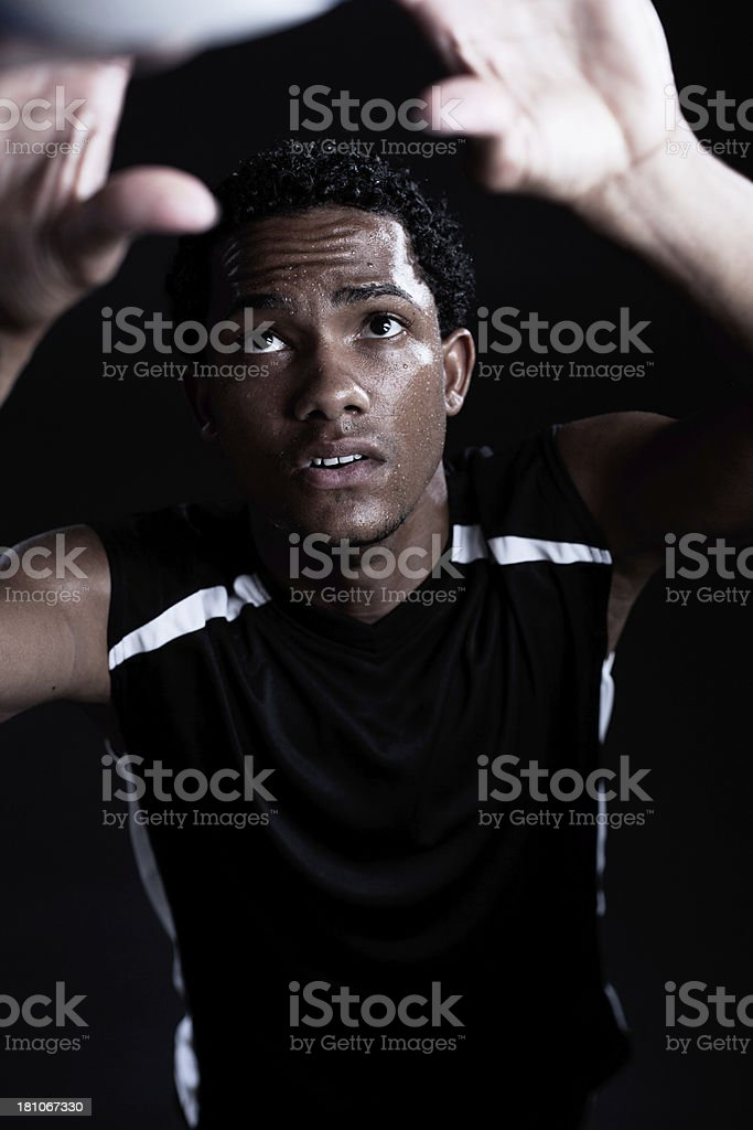 Volleyball player portrait looking at camera. royalty-free stock photo