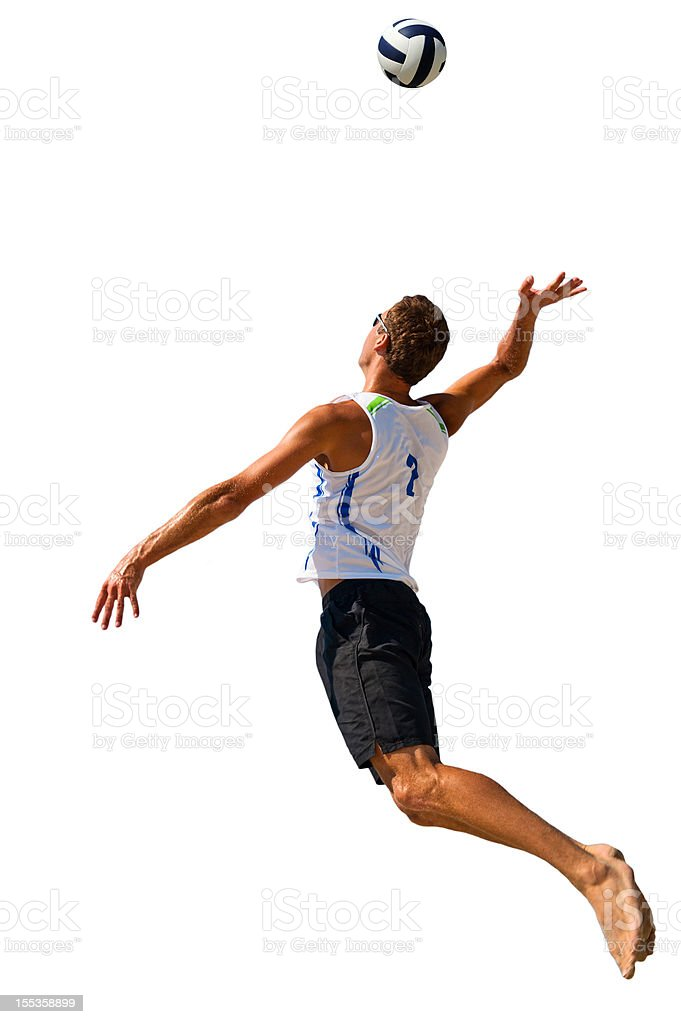 Volleyball player serving the ball royalty-free stock photo