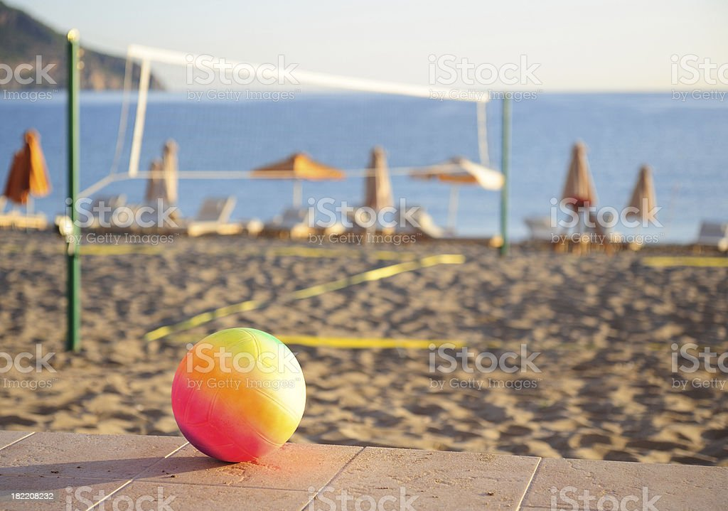 Volleyball, ready for game royalty-free stock photo