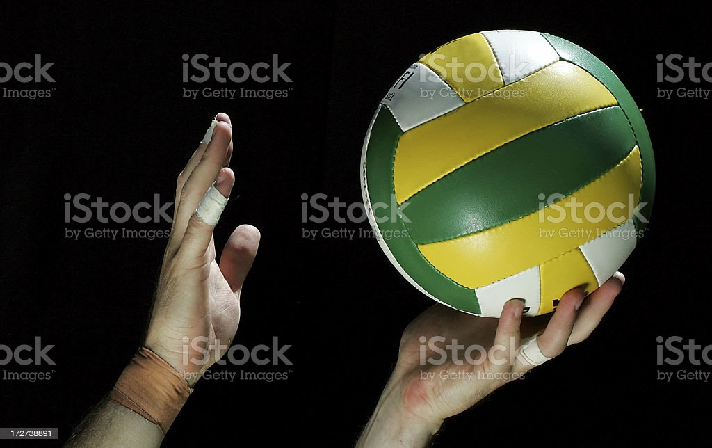 Volleyball Serve royalty-free stock photo
