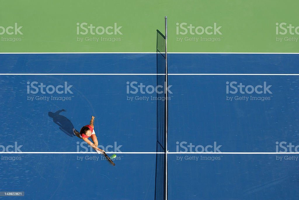 Tennis volley stock photo