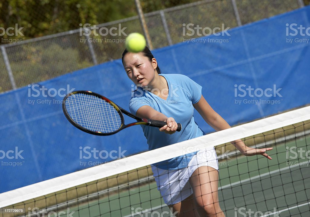Tennis volley royalty-free stock photo