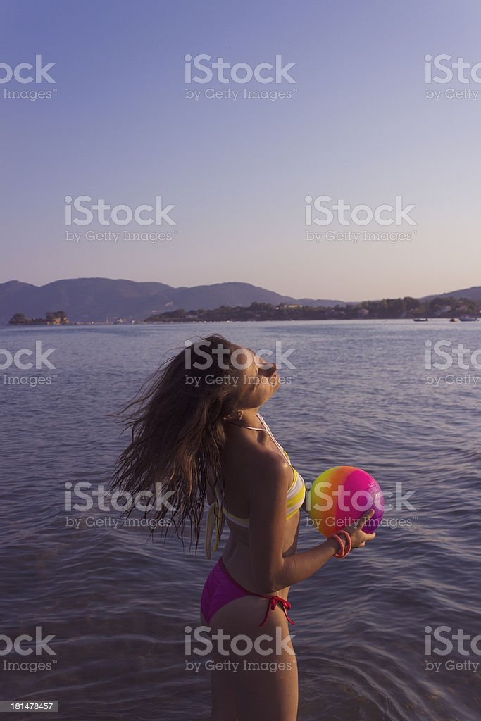 Volleyball time royalty-free stock photo