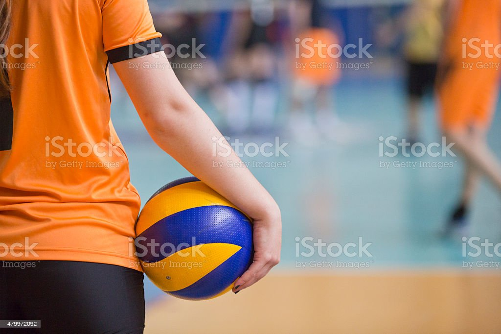 Volleyball Training stock photo