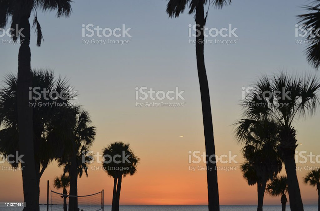 volly ball sunset royalty-free stock photo