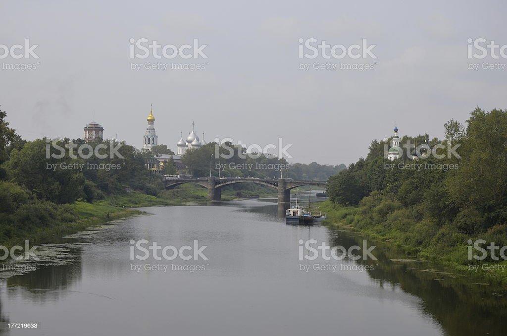 Vologda River. Russia royalty-free stock photo