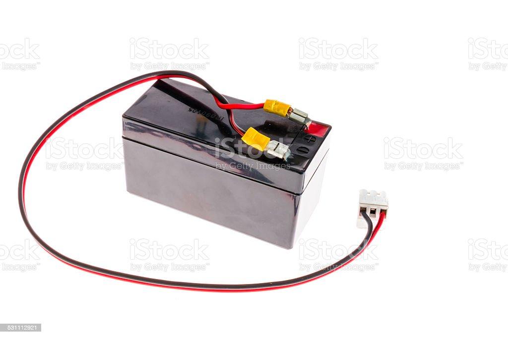 12 volt battery stock photo