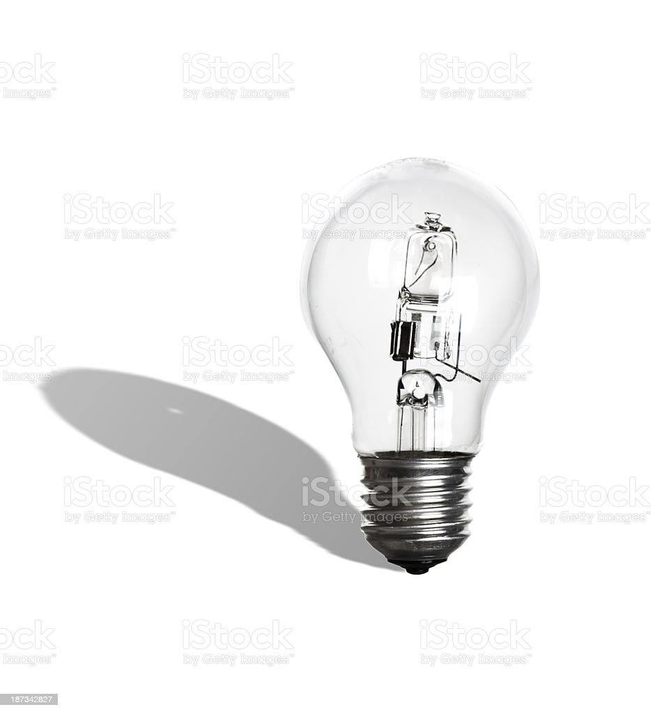 220 volt light bulb with shadow royalty-free stock photo