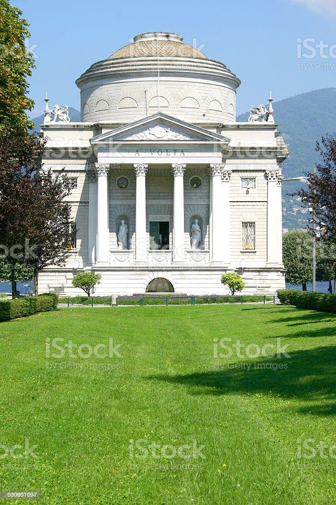 Volta Temple in Como, Italy stock photo