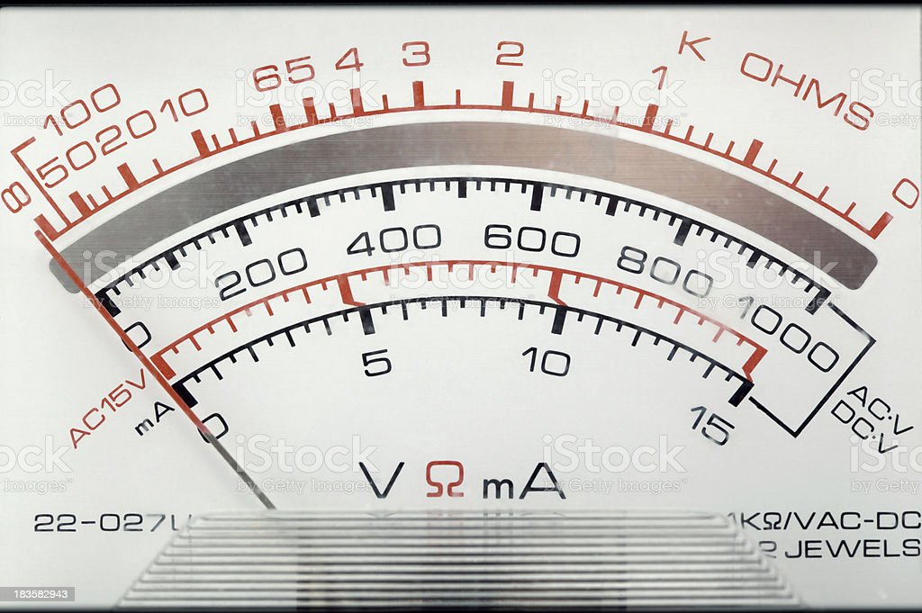voltage meter royalty-free stock photo