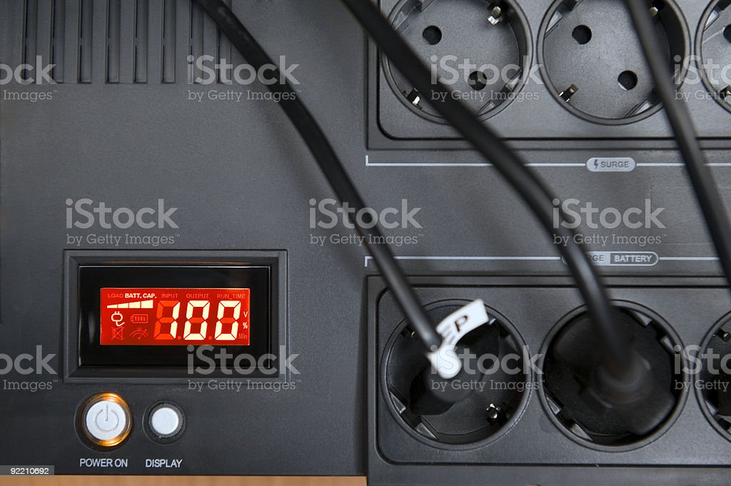 Voltage stabilizer royalty-free stock photo
