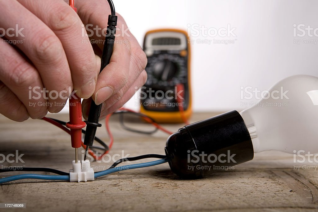 Voltage tester from a electrician royalty-free stock photo