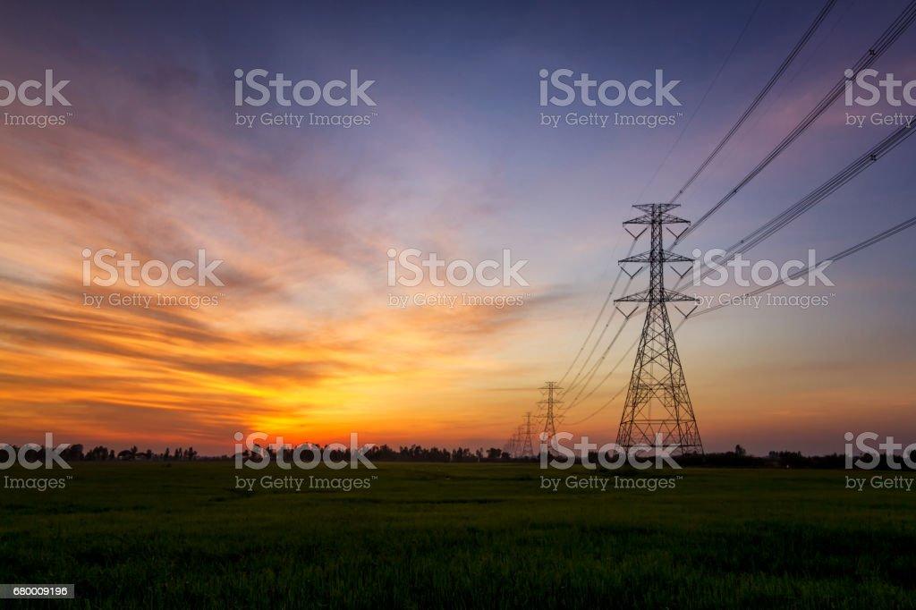 voltage tower stock photo