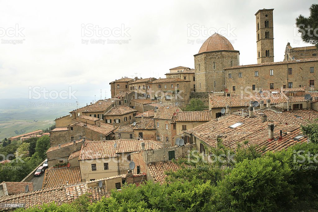 'Volterra cityscape, Tuscany Italy' stock photo