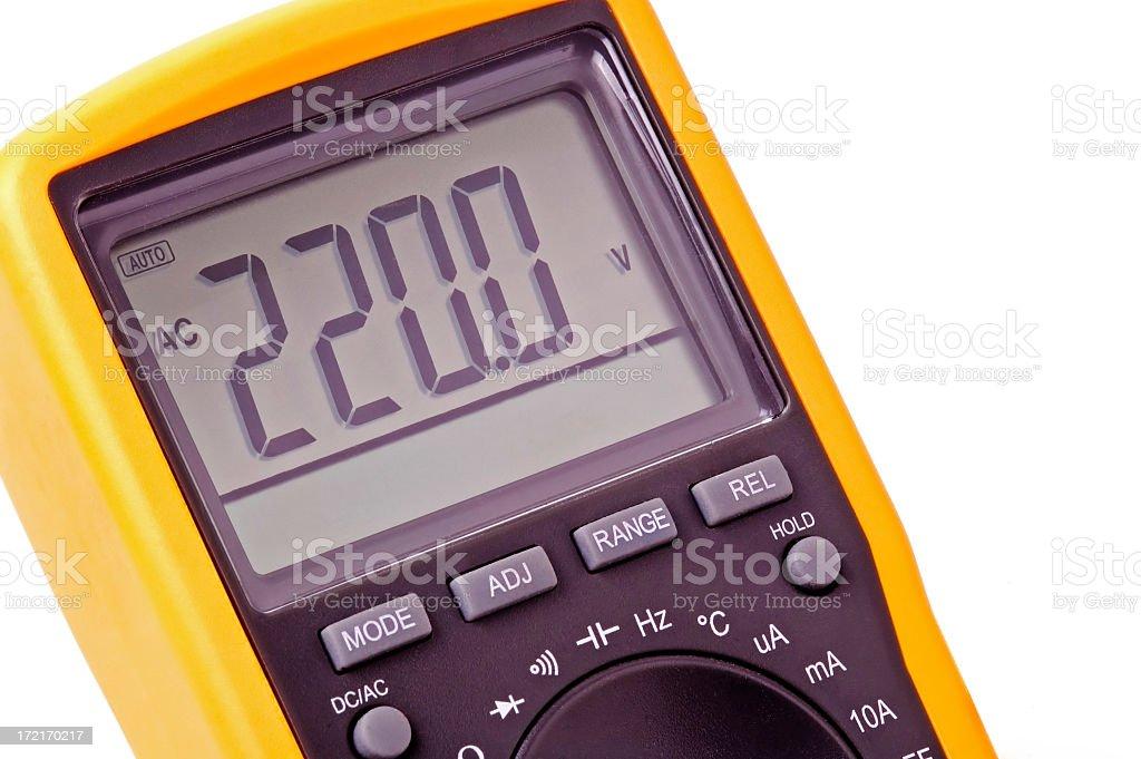voltmeter 220V stock photo