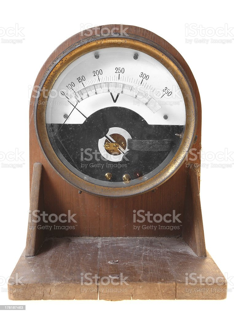 Voltmeter royalty-free stock photo
