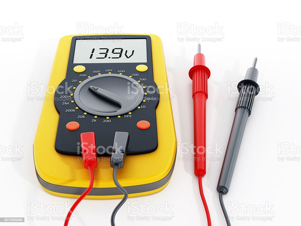 Voltmeter stock photo