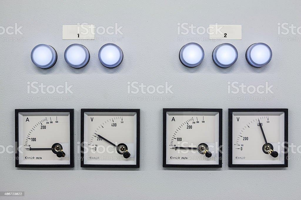 voltmeters stock photo