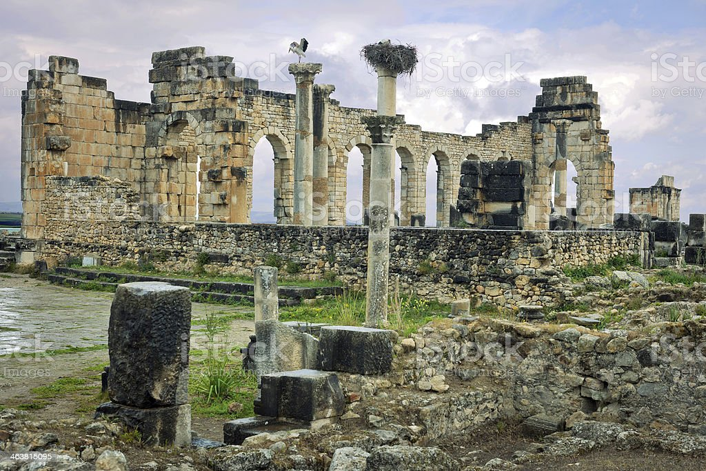 Volubilis Roman Old City, Morocco, Africa royalty-free stock photo