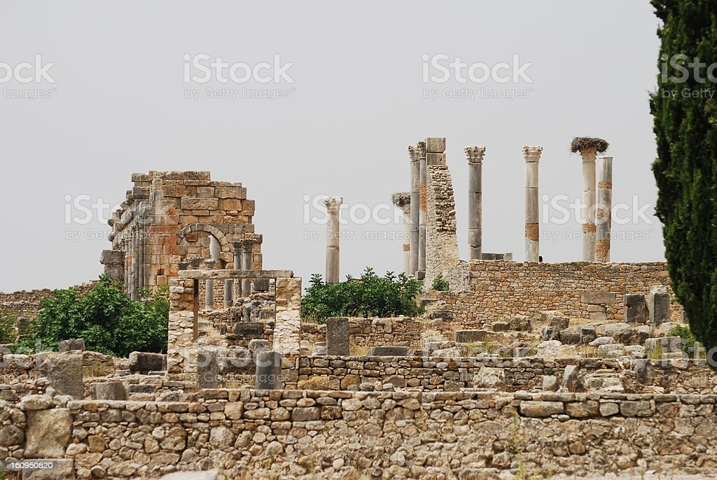 Volubilis Ruins stock photo