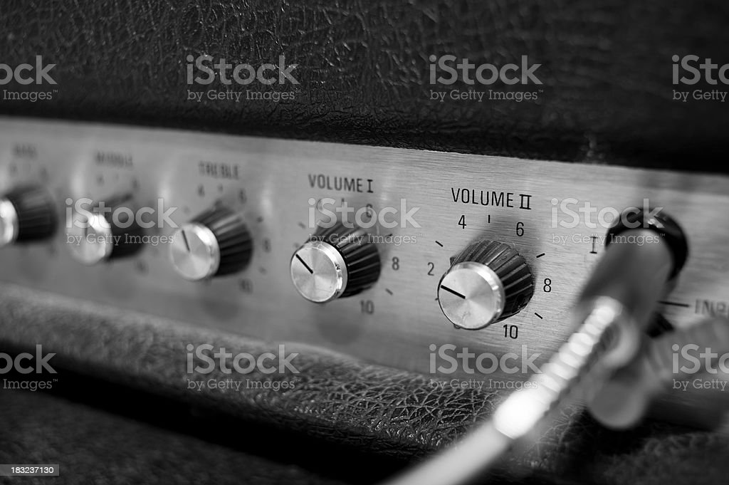 Volume Close Up Of A Guitar Amp royalty-free stock photo