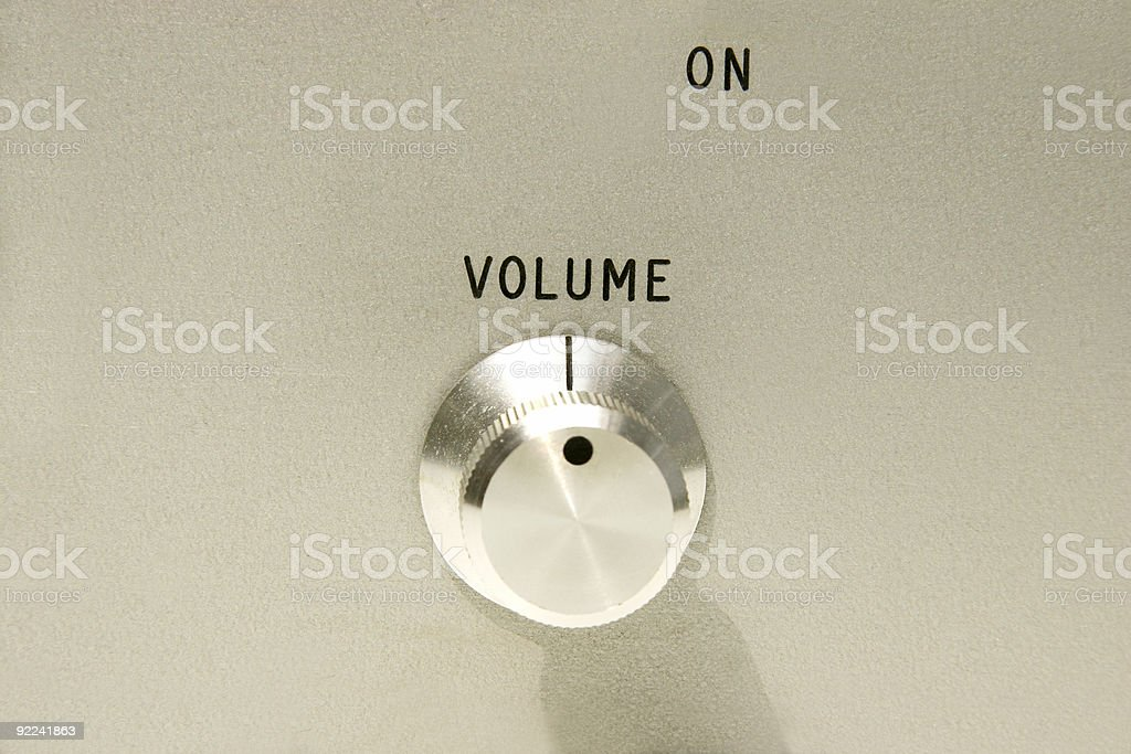 volume control knob royalty-free stock photo
